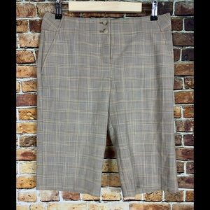 The Limited Cassidy Fit Plaid Bermuda Shorts Sz 6